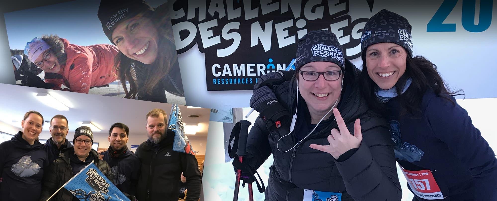 Cameron ressources humaines Challenge des neiges